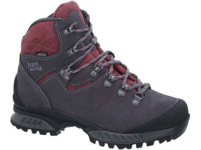 Hanwag Tatra II GTX Shoes Women asphalt/dark garnet